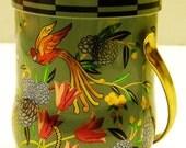 Vintage Tropical Bird Tin
