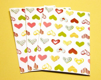 Heart Mini Envelopes - Open End 3.25 x 5.5 inches PIF