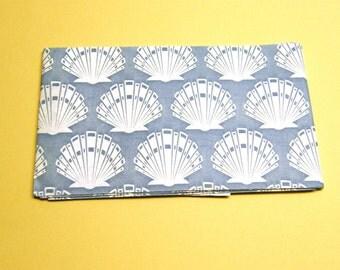 Blue Scallop Shell Untwisted Paper Ribbon Raffia Crepe 4 inch x  3yd
