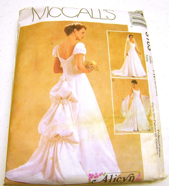 Bridal Gowns with back bubble detail - McCall 3103