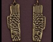 ASIAN CARP- Earrings- Bronze