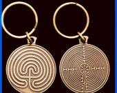 Labyrinth Key Chain- Gold Tone - %20 Off - - SALE - sale - SALE - sale - SALE -
