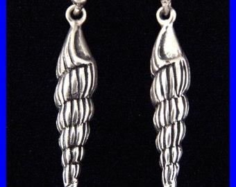 SEA SHELL- Earrings- Sterling Silver