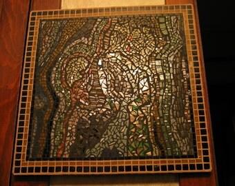 TOPOGRAPHY - Mosaic Wall Art  Ready to hang