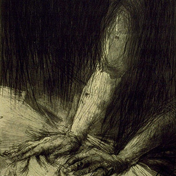 Massage etching intaglio prints figure drawing hands signed numbered