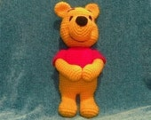 PDF - Winnie the Pooh - 11.5 inches amigurumi doll crochet pattern. Available in English or Spanish language.