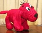 PDF - Clifford, the big red dog.13.6 inches Amigurumi doll Crochet pattern