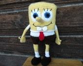 PDF - Spongebob Squarepants - 12.4 inches amigurumi doll crochet pattern