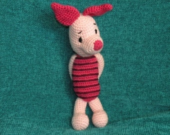 PDF - Piglet the Winnie the Pooh's friend 12.5 inches / 31 cm amigurumi doll crochet pattern
