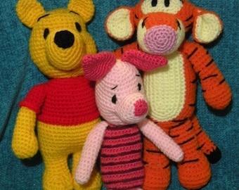 Amigurumi Winnie The Pooh : Pin Special Offer 6 Amigurumi Crochet Pattern From Winnie ...