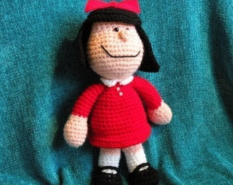 PDF Mafalda - 10.8 inches / 27 cm - amigurumi doll crochet pattern. INSTANT DOWNLOAD