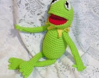 DESCARGA instantánea - PDF Kermit/Gustavo/René la rana  35 cm amigurumi patrón de crochet en ESPAÑOL