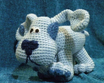 PDF - Blue from Blue's Clues - 8 inches amigurumi doll crohet pattern Available in English or Spanish language