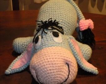 PDF - Eeyore the Winnie the Pooh's donkey friend - 12 inches amigurumi doll crochet pattern