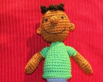 PDF - Franklin from Peanuts - 10.4 inches - Amigurumi doll crochet pattern