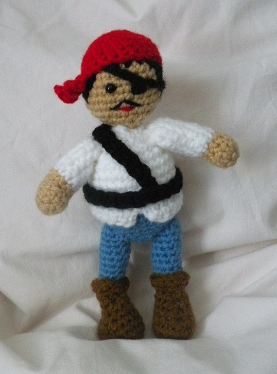 Amigurumi Doll Pdf : Pdf pirate amigurumi doll crochet pattern by siemprejosefina