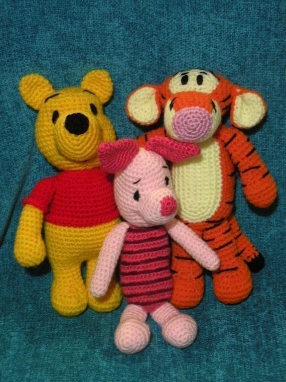 Items similar to SPECIAL OFFER - 6 amigurumi crochet ...