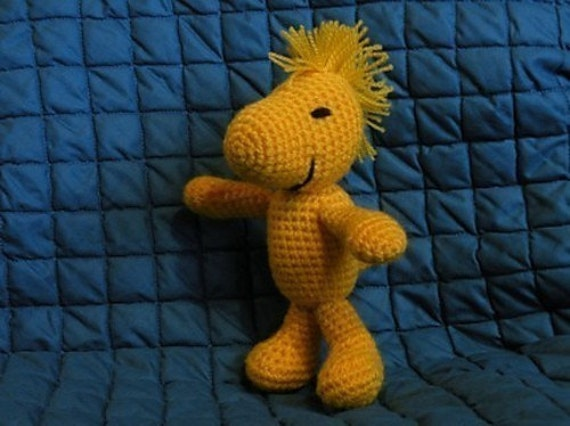 Amigurumi Woodstock Pattern : PDF Woodstock Peanuts The Snoopys friend 8.4 inch