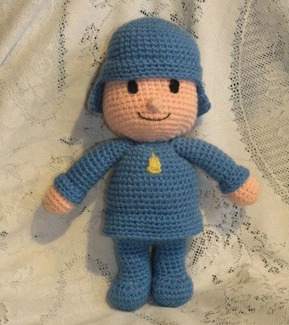 PDF - Pocoyo - 12 inches / 30 cm amigurumi doll crochet pattern. Available in English or Spanish language