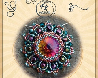 Beading pattern pendant tutorial / pattern Bodog pendant – PDF instruction for personal use only