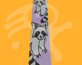 Peyote pattern Raccoons...PDF peyote pattern