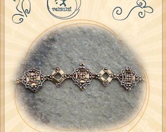 Bracelet tutorial / pattern TeoTila bracelet...PDF instruction for personal use only