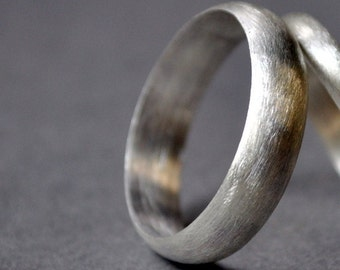 Sterling Silver Wedding Band  Men s Single Band  5mm Wide  Matte Finish   ModernBlack Wedding Ring  Men s Wedding Ring  Sterling Silver . Modern Mens Wedding Band. Home Design Ideas