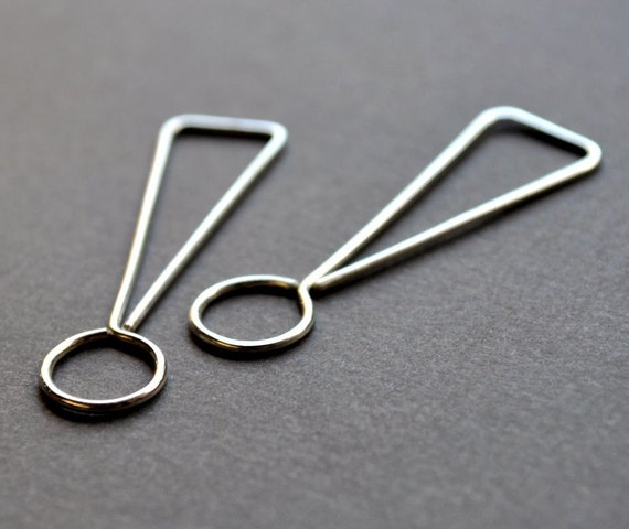 Earrings. Punctuation Collection. Exclamation Mark. Writer, Editor, Geek Style Modern Simple Sterling Silver. By Epheriell on Etsy.