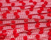 Darling Rosebuds Red Gingham Ribbon