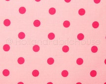 Cotton polka dot fabric, Dutch fabric, cotton fabric, polka dot fabric, pink fabric, Polka Dots in Candy Pink