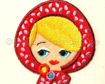 Little Red Riding Hood Doll's Head iron-on transfer