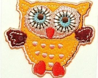 Sweet Owl in Orange iron-on transfer
