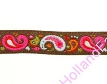 Paisley Chocolate ribbon/sewing tape