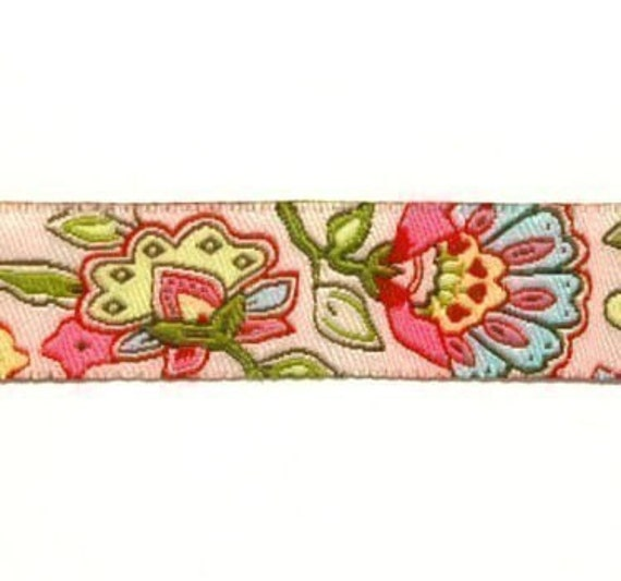 Dutch Floral Pink Oilily Style ribbon/sewing tape