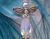 Moonstone Angel Charm - The travellers stone