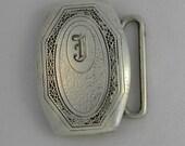 Hickok Sterling Silver 925 Belt Buckle Vintage