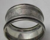 Sterling Silver Napkin Rings Pair Vintage 925