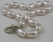 Carstee Sterling Silver 17 Inch Heavy Individually Tied Bead Necklace Vintage 925