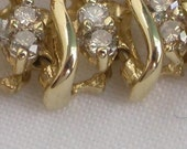 10K Yellow Gold Diamond Bracelet with Approximately 2.75 Total Carat Weight TcW of Diamonds Vintage.  FREE SHIPPING.