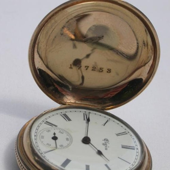 Reserved 1889 Elgin Nat'l Watch Co Pocket Watch Keeps Time Well Works Ser No 3781441 33mm Fahy's Conqueror No 1 Case
