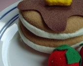 Pancake pair felt food \/ cat toy
