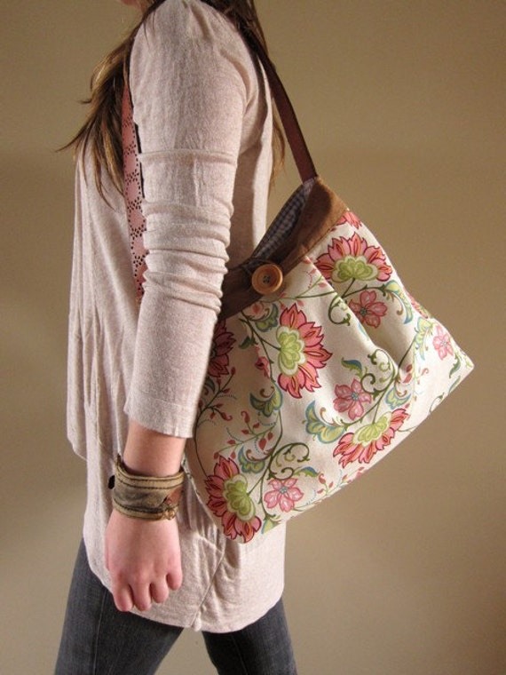 Eco Recycled Leather Floral Handbag by Waterstone