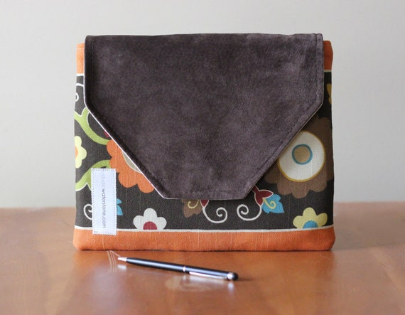 iPad Case Recycled Leather & Cotton Padded Sleeve for Your EReader