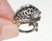 Custom order for Charlene RING Gold Fish Good Fortune and Happiness