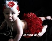 Original All Around Ruffle Diaper Cover Panty Skirt Tutu Sassy Pants This is Over the Top Cute Shown in Red