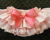 Peach and Pink Ruffle Diaper Cover Panty Original Sassy Pants