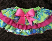 Sassy Pants Ruffle Diaper Cover Panty Whimsical Pinwheels Coral Pink Lime Green Torquoise Blue Royal