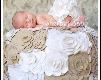 White Original Sassy Pants Ruffle Diaper Cover Bloomers
