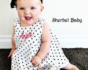 Mix and Match Pinafore and Ruffled Sassy Pants Diaper Cover Sundress Sunsuit Monogram Option