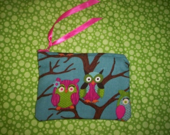 Owl Coin Change Purse and OWLS  key chain..
